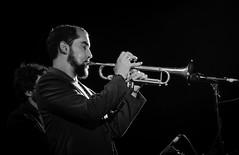 Raynald Colom en el Campus de la UNIA (yahoraqu) Tags: bw blancoynegro huelva jazz nocturna msica msicos trompeta larabida palosdelafrontera cursosdeverano