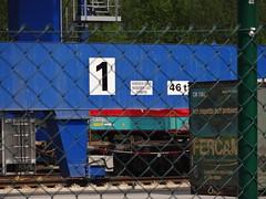Container Terminal Herne (Oli-unterwegs) Tags: one 1 eins eisenbahn terminal container schild hafen kran westhafen verboten herne containerterminal cth fercam 46t wanneherner