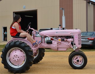 The Breast Cancer Awareness Pink Farmall Tractor