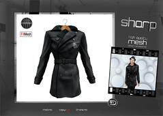 "sharp by [ZD] - ""Guy"" Leather Coat (shine & sharp by [ZD]) Tags: life urban man male men leather fashion by demo cool shine dress place mesh market coat sharp sl trenchcoat dresses second mann marketplace mp mode mnner jacke mantel kleidung menswear kleid mnnlich zd ledermantel inworld zddesign"