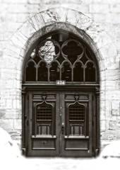 Basilique Notre-Dame de Montral (Paul Leb) Tags: door blackandwhite bw canada puerta montral noiretblanc basilica notredame qubec porte basilique