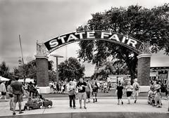 State Fair BW (Forrest Pearson) Tags: minnesota sign statefair entrance