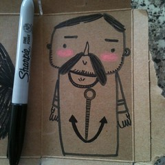 Instead of eating my #breakfast I am #doodling. (waltersilvausa) Tags: art beach square beard drawing capecod doodle squareformat anchor sailor crayon mustache carandache gaybear asketchaday iphoneography instagramapp uploaded:by=instagram