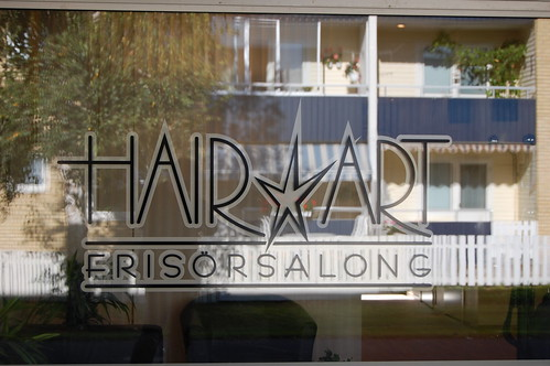 HairArt fönsterdekor
