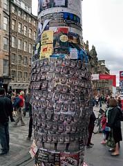 Edinburgh festival fringe posters (Rob Lightbody) Tags: promotion advertising poster edinburgh fringe posters bulging bulge