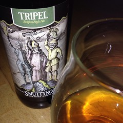 "This @smuttynosebeer Tripel is amazing! I love that it is made a few miles from our farm. I really love how fabulous it tastes! This may be my new favorite.  #craftbeer #smuttynose • <a style=""font-size:0.8em;"" href=""http://www.flickr.com/photos/54958436@N05/15047769805/"" target=""_blank"">View on Flickr</a>"