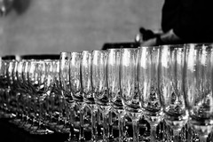 Crystal (zoesque) Tags: bw glasses wine champagne event liquor server waiter catering