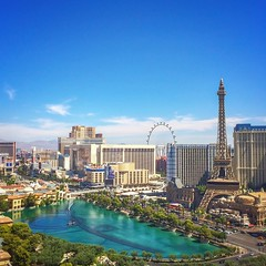 In #lasvegas this weekend for my 18th wedding anniversary with @mrsth -- this is the view from our room at the @cosmopolitan_lv #cosmopolitan #cosmopolitanlasvegas. Dinner tonight at @chefmichaelminna #vegas #anniversary