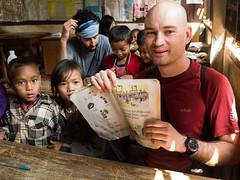 Laos Classroom (Jigsawn) Tags: school children book education asia tour classroom visit tribal tourist learning laos backpacker hmong nam pupils tha luang luangnamtha