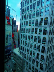 Glimpse of Times Square from my hotel with my new Pentax Q-S1 (inail1972) Tags: newyorkcity usa america timessquare pentaxqs1 pentaxqlens pentaxq02515mmf2845