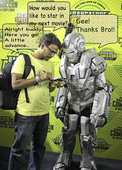 Sign up (pradeep javedar) Tags: portrait man comics movie 50mm costume iron cosplay candid bangalore bubbles marvel comiccon speech 50mmf18 signup canon600d ironpatriot