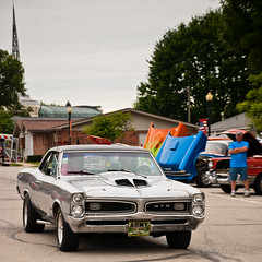 silver GTO (IndyEnigma) Tags: summer car silver automobile indiana pontiac gto squarecrop d80