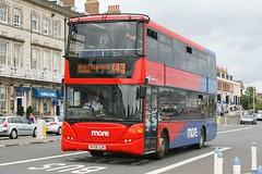 More bus 1197 HF58 GZM (johnmorris13) Tags: bus more scania wiltsdorset omnicity hf58gzm