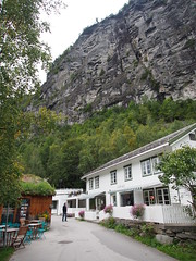Classical houses in Geiranger.