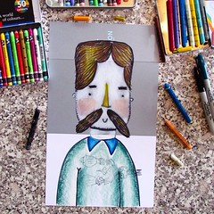 Today I present a #Hipster #doodle done during a late #breakfast. #sharpie #carandache #Cardboard #drawing #color #Men #macho #man #recycled #paper #Art #asketchaday #doodler #gaybear #gaycub #beard #bearded (waltersilvausa) Tags: bear gay man art illustration square beard sketch sweater drawing mixedmedia hipster squareformat sharpie mustache carandachecrayon gaycub iphoneography instagramapp uploaded:by=instagram