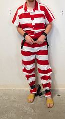 P1020200 (boblaly) Tags: prison prisoner padlock jumpsuit jail inmate uniform chain cuffed cuffs chained chains convict secure locked belly belt tubes handcuffs handcuffed detention restraints restrained arrested arrest shackled shackles