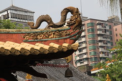 Guangxiao Temple, Guangzhou/ 2495 (Petr Novk ()) Tags: buddhisttemple buddhist temple   religion   china na guangzhou canton  guangdong   asia asie buddhism  statue sculpture  art animal   dragon drak roof  history  historical building architecture