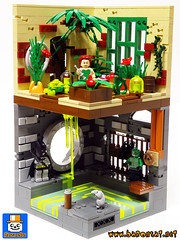 Poison Ivy Greenhouse (baronsat) Tags: lego batman gotham poison ivy lab green house dark knight custom model instructions