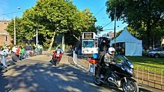 ' Ben ik in beeld?' (Peter ( phonepics only) Eijkman) Tags: amsterdam city gvb trapkar bn 12g tram transport trams tramtracks rail rails strassenbahn streetcars detour omleiding nederland netherlands nederlandse noordholland holland