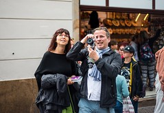 Your typical tourist (bloodwithmilk) Tags: street streetphotography nikon d800 50mm contrast city travel prague czech czeck