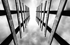 Stairway to heaven (Adeypoos) Tags: adrianpollardphotography canoneos6d blackandwhite canon1635mmf4is stanwicklakes bw perspective rainclouds sky