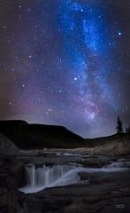 Waterfall  Milky Way - Elbow Falls