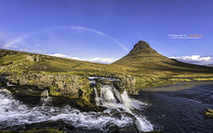 Rainbow over Kirkjufell, Iceland (Alongkot.S) Tags: arctic beautiful beauty borealis celcius cloud cloudy cold freeze green grund grundarfjordur ice iceland kirkjufell kp9 lake landmark landscape light magical max miracle mountain natural nature night nightscape north northern phenomenon planet polar rainbow scene scenic sky snow solar spread star swamp travel water waterfall wave west winter wonderful