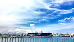 """""""Paisaje Puerto"""" (atempviatja) Tags: puertobcn cielo nubes mar puerto paisaje"""