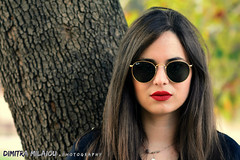 the look ... (dimitra_milaiou) Tags: portrait woman girl glasses face photo photography fall tree spring summer winter life love live color colour long hair dimitra milaiou nikon d7100 d 7100 close light day athens city europe lovely beautiful 70210mm red lips green nature mystery black forest ελλάδα πορτραίτο γυναικα μηλαίου δήμητρα poetry magic thoughts nice looking fashion style ray ban rayban chroni ngc greece greek