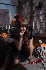 DSC_7393 (Robin Huang 35) Tags: 孫卉彤 candy miruna萬聖風 小惡魔 吸血鬼 vampire 萬聖節 halloween 棚拍 lady girl d810 nikon devil
