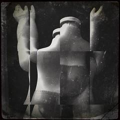 Doll parts-8772 (Poetic Medium) Tags: doll apple possession toy stilllife mextures blackandwhite blender multipleexposure plastic dollparts ipod