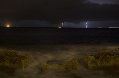 lightning off Malta (neilalderney123) Tags: 2016neilhoward malta storm weather olympus landscape water waves 2016neilhoward