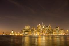 Manhattan view from Brooklyn (tylergaugler16) Tags: 14oct2016 photooftheday cityscape longexposure nighttime night manhattan dumbopark newyorkcity city lights water hdr
