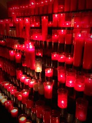 Red Indoors  Candlelight In A Row No People Tradition Large Group Of Objects Travel Destinations Nuria Valley at Vall de Nria (Cesc Cam) Tags: red indoors candlelight inarow nopeople tradition largegroupofobjects traveldestinations nuriavalley