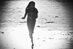 Right Through the Sunbeam (cristian_jordache) Tags: bw sony a6000 sigma oregon pacific coast shore seaside water sun beam darktable