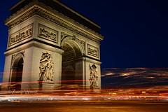 DSC_8163 (Zaric (picsbyzic)) Tags: arcdetriomphe paris france avenuedeschampslyses champslyses longexposure lighttrails monument ruedeschampslyses