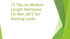 13 Tips on Medium Length Hairstyles for Men 2017 for Rocking Looks (Zapakk) Tags: zapakkhairstyles for mennew haircuts menbest 2017haircuts long hairhaircuts black menhaircuts men with thick hair