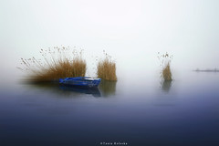 Just a foggy day... (ktania) Tags: fog foggy boat lake kastorialake reflection reflectioninlake blue bluesea winter automn beautiful landscape landscapephotography nature canon canoneos6d canonef1740mmf40lusm taniakoleska taniaphotography taniaphotos