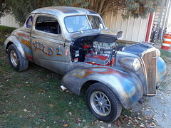 """1937 Chevy Coupe """"Wild 1"""" (splattergraphics) Tags: 1937 chevy coupe wild1 gasser dragcar flames patina carshow rustynutz jalopyrama carrollcountyagriculturalcenter westminstermd"""