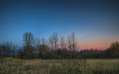 Blue Transition (Decaseconds) Tags: hdr landscape nature bluehour canton newyork northcountry stlawrence university college campus moon rise fall autumn