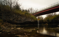 Ludlow Falls Redux (+Lonnie & Lou+) Tags: longexposure nisi nature sony a7r travel ohio waterscape waterfall reflection bridge architecture forest usa landscape sky clouds bulb