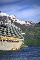 093034_CB_1077 (aud.watson) Tags: europe norway sunnmoreregion geirangerfjorden fjord waterfalls water mountains cruiseship geiranger