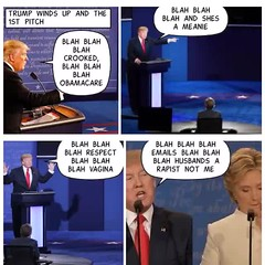 Last Debate 2016 (stanbstanb) Tags: lomics comics benghazi husbands obamacare president terrible