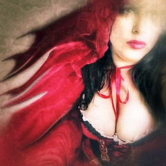 My love for Red (Kat McClelland) Tags: people portrait art darkart goth gothic red woman