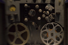 Capstans Courageous (MPnormaleye) Tags: tape reels machinery recorder antique electronic museum audio gauge meter controls lensbaby sweet35