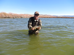 Pat With A Nice Brown Trout (fethers1) Tags: fishing flyfishing trout browntrout cutthr