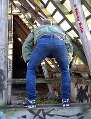 self3122 (Tommy Berlin) Tags: men jeans levis bomberjacke alphajacke butt ass ars