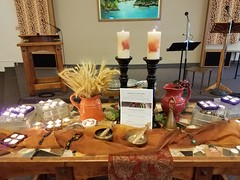 2016 All Saints Sunday Messy Church (robinsan) Tags: fccpuyallup church messychurch allsaints saints communion servant forgive confess bread cup artabandonment stones singingbowl candles remembrance livegenerously peacemakers worship