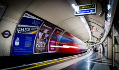 Fugley Waterloo way out (ONE DIGITAL EYE) Tags: london train station underground tube speed longexsposure city platform railway wayout waterloo