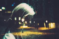 Rubber & Bone (Louis Dazy) Tags: 35mm analog film double exposure grain night lights street girl